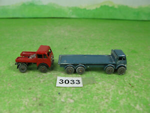 vintage benbros diecast foden flat bed & tractor unit collectable models 3033