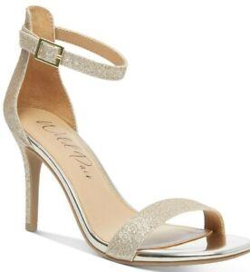 Women's Wild Pair Blaire Dress Sandals Gold Glitter Size - US 6 1/2