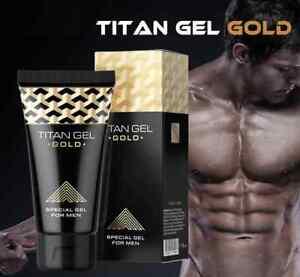 ⭐️⭐️⭐️⭐️⭐ Gel de Titane doré l'élargissement du pénis 50ml