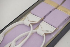 NEW IN BOX | $230 TURNBULL & ASSER SUSPENDERS BRACES LILAC LAVENDER LARGE L