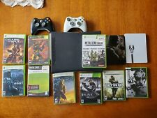 Xbox 360  black 120 Gb Hard Drive console bundle with 11 games