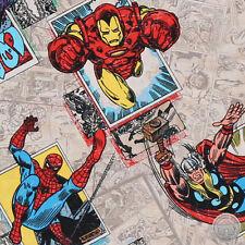 140106212 -New Marvel Comics Retro Badge Hulk Iron Man Thor Cap Spiderman Fabric
