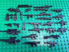 50 PCS WEAPON PACK - Assorted Random Weapons of Guns, Rifles for Lego Minifigure