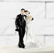 Topper Matrimonio Sposi Abbracciati 11cm Torta