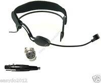 Black Plastic frame Headset Microphone for AKG Wireless -  XLR 3-Pin Female Plug