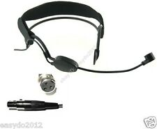 Black Plastic frame Headset Microphone for AKG Wireless -  XLR 3-Pin Female Plug