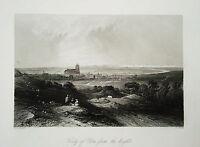 Ulm Bayern echter alter  Stahlstich 1844