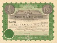 Arlington Virginia Ice & Fuel > stock certificate share