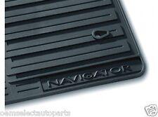 OEM NEW 2007-2010 Lincoln Navigator All-Weather Vinyl Floor Mats Rubber - Black