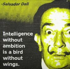 SALVADOR DALI QUOTE - Printed Patch - Sew On - Vest, Bag, Backpack, Jacket!
