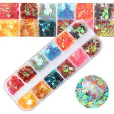 Nail Art Sequins Glitter UV Gel Maple Leaf Decoration manicure craft Stickers