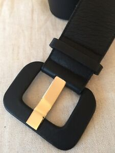 Ladies Jaeger Black Leather Belt.Size Large.Perfect.Wide.