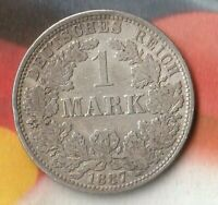 1887A German Empire 1 Mark- 90% Silver----Decent 134 year old Silver Coin~