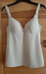 Viania Damen BH-Hemd Top Unterhemd Gr.85 C..Beige..