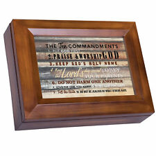 The Ten Commandments Woodgrain Digital Music Box Plays I Can Only Imagine
