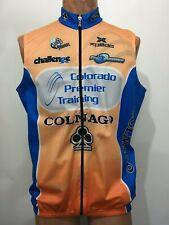 Biemme Men L Sleeveless Bike Windbreaker Orange Blue Colnago SCCC Colorado