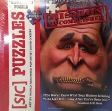 SIC PUZZLES by David O'Keefe George W Bush ZIP IT Mission Accomplished Political