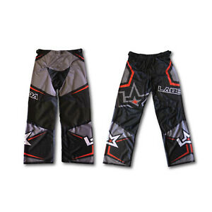 LABEDA Roller Hockey Inline PANTS PAMA 7.1 BLACK/CHARCOAL/RED