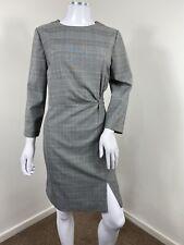 Vestido de Mango XL UK 14 Negro Blanco Houndstooth Cuadros Tartán a la medida Oficina de Trabajo