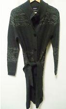 Long gilet Caroll gris en laine entièrement boutonné, non doublé. Taille 38