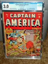 RARE CAPTAIN AMERICA #4 CGC 3.0 EARLY GOLDEN AGE STAN LEE PIN-UP