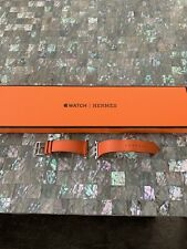 Authentic Hermes Apple Watch Band Orange Learher 38mm
