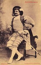 ALBERT ALVAREZ opera tenor autographed note on his carte de visite & photo