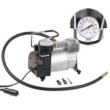 Lescars Mini-Luft-Kompressor mit Manometer, 12 V, 100 psi, 168 Watt, 3 Adapter