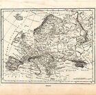 Carta geografica antica dell' EUROPA Kerbs 1897 Old map
