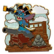 Disney Pin 46472 Pirates of the Caribbean Legend of the Golden Stitch Cannon LR