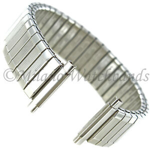 16-21mm Speidel Twist-O-Flex Stainless Steel Silver Watch Band 605/02