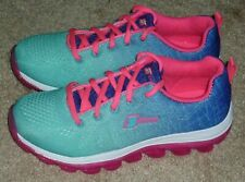 Girls Size 2 - S Sport Designed by Skechers Sneakers Aqua & Pink Shoes BRAND NEW