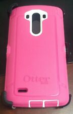 OtterBox Defender LG G3 Case & Holster Pink/WhiteCover w/ Belt Clip OEM Original