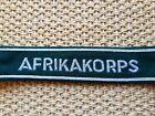 WW2 German Wehrmacht Heer Afrikakorps cuff title (Bullion tread on Dark Green)
