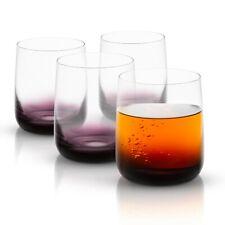 JoyJolt Black Swan Double Old Fashion Whiskey Glasses, 13.7 Oz Set of 4