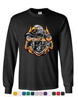 Live to Ride Long Sleeve T-Shirt Flaming Eagle & Bike Biker MC Tee