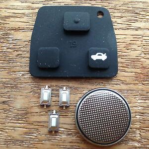 FOR Toyota Rav4 Yaris MR2 Corolla Avensis 2 / 3 Button Remote Key Fob Case KIT