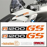 2x R1200GS Black/Orang BMW ADESIVI R1200 GS PEGATINA STICKERS AUTOCOLLANT R 1200