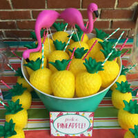 Plastic Hawaii Tropical Pineapple Coconut Drink Cups Party Cups Decoration