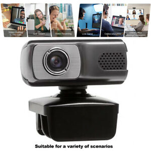 720P Webcam with Microphone USB Driver-free Web Camera for Laptop Computer PC