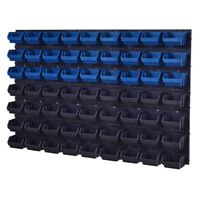67 teiliges SET Lagersichtboxenwand Stapelboxen mit Montagewand Werkzeugwand
