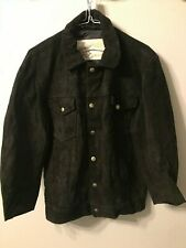 VINTAGE DISTRESSED SCHOTT SUEDE LEATHER TRUCKERS JACKET SIZE 38