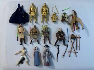 """Star Wars 3.75"""" Action Figure 12 Loose Figure Lot Republic & Jedi Senate Guard"""