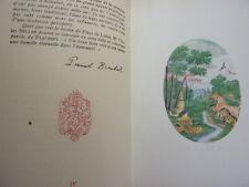 CHINE / FLEUR DE LOTUS  Charles Bellan jolie édition signé par l'auteur