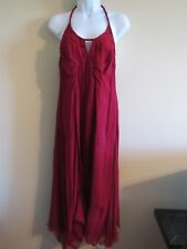 Chelsea & Violet nwt M cranberry boho fairy dress halter embroidry retail $148