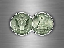 Sticker decal car vinyl jdm bomb tuning dollar bill logo american usd usa