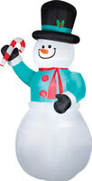 CHRISTMAS SANTA SNOWMAN CANDY CANE 12 FT TALL  AIRBLOWN INFLATABLE YARD