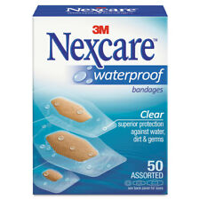 Nexcare Waterproof Clear Bandages Assorted Sizes 50/Box 43250
