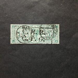 GRAN BRETAGNA 1891/ EFFIGIE REGINA VITTORIA 1 £ST. VERDE, USATO