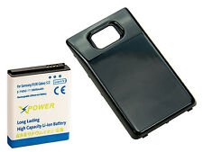 Long Life 3600mAh Extended Battery + Cover for Samsung Galaxy S2 i9100, XpBlack
